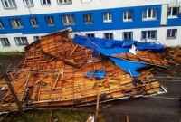 Крыша не выдержала напора стихии