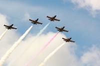 Выступление пилотажной группы «Русь» стало одним из ярких событий юбилея.