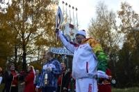 Эдуард Заенчковский с олимпийским огнем.