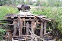 Мост через Локшу рухнул, сотни жителей отрезаны от мира