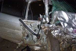 На Южном Урале произошло лобовое столкновение Mitsubishi Lancer и «ВАЗа»
