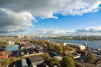 Вид на южнопортовую промышленную зону Москва.