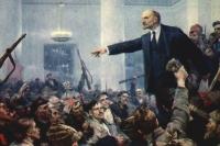Провозглашение Советской власти в России. Картина В. Серова 1962 года. Фрагмент