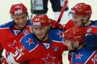 Хоккеисты ЦСКА.