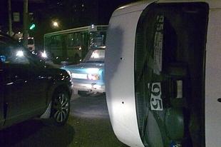 В Курганской области произошло ДТП с участием маршрутного такси