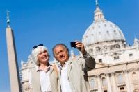 Туристы в Италии.