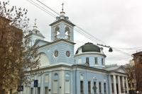 (9) Церковь Успения Пресвятой Богородицы на Могильцах в районе Пречистенка (бывшее Чертолье).
