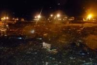 Место катастрофы Boeing 737 в Казани 17 ноября 2013 года.