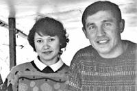 Рустем Салихов с супругой. 2001 год. Фото из архива М.Туруновского