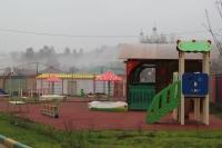 Игровая площадка нового детского сада на улице Хворостухина
