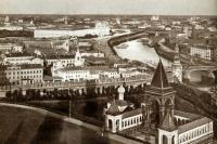Вид на Зарядье с колокольни Ивана Великого
