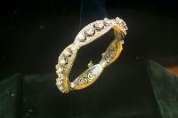 Бриллиантовый браслет из белого золота.