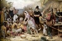 Первый День благодарения. Картина Дж. Л.Ферриса.