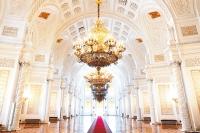 Георгиевский зал - самый большой в Кремлёвском дворце.
