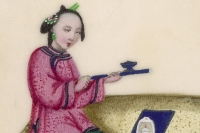 Курение опиума. Фрагмент картины 19 века.