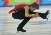 Обладатель бронзовой медали в одиночном мужском катании Феодосий Ефременков во время выступления с произвольной программой.
