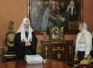 Патриарх Московский и всея Руси Кирилл в рабочей патриаршей резиденции в Чистом переулке принимает участие в голосовании на выборах президента РФ.