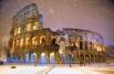 Колизей в Риме. В прошедшую пятницу здесь прошел сильнейший за последние 20 лет снегопад