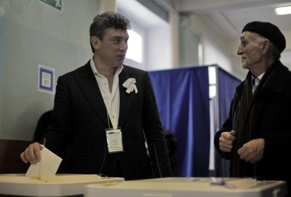 Борис Немцов на избирательном участке №41