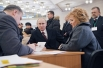 Кандидат в президенты РФ, председатель правительства России Владимир Путин с супругой Людмилой