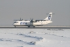 """Самолет ATR-72 компании UTair перед взлетом в аэропорту """"Толмачёво"""" Новосибирска."""