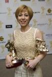 Телеведущая Марианна Максимовская получила призы в номинациях «Ведущий информационно-аналитической программы» («Неделя с Марианной Максимовской» и «Информационно-аналитическая программа».