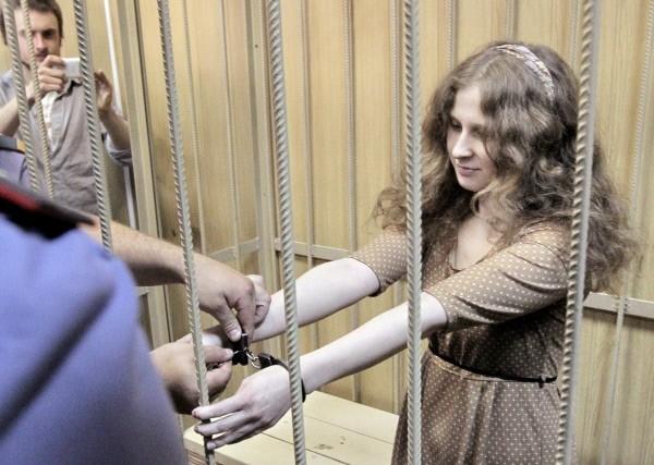 Участница группы Pussy Riot Мария Алехина на заседании Таганского суда Москвы.