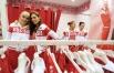 Игроки женской сборной России по баскетболу Наталья Водопьянова, Анна Петракова, Елена Данилочкина и Наталья Жедик