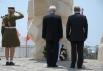 Президент России Владимир Путин в городе Нетании на церемонии открытия мемориала Победы Красной Армии над фашистской Германией.