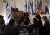 Президент России Владимир Путин выступает на торжественном приеме от имени президента Израиля Ш.Переса в честь президента РФ В.Путина