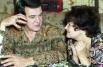 Супруги - певица Тамара Синявская и певец Муслим Магомаев. 1994 г.
