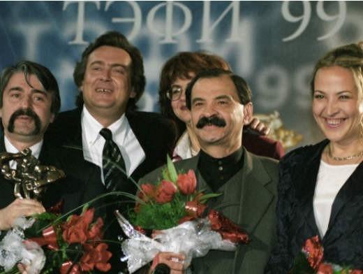 Создатели «Городка» на вручении им национальной телевизионной премии «ТЭФИ», 1999 год