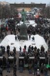 """05.03.2012 г.  Участники митинга оппозиции """"За честные выборы"""" на Пушкинской площади в Москве."""