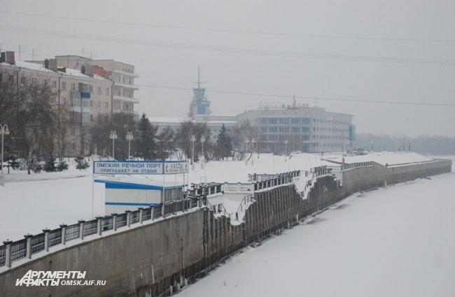 Речной порт. г. Омск