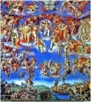 Микеланджело, «Последний суд», фреска в Сикстинской капелле, Ватикан, 1537-1541 гг.
