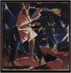 Алексей Рыбников, «Остроугольный ангел апокалипсиса», 1918 г. (кубизм)
