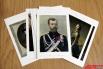 Так, набор включает репродукции портретов императора Николая II, Петра I (картина хранится в Государственном Эрмитаже), царя Иоанна V  и других.
