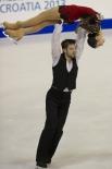 Стефания Бертон и Андрей Хотарек, представлявшие Италию, показали третий результат в парном разряде.