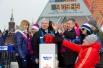 С.Собянин открывает олимпийские часы на Манежной площади