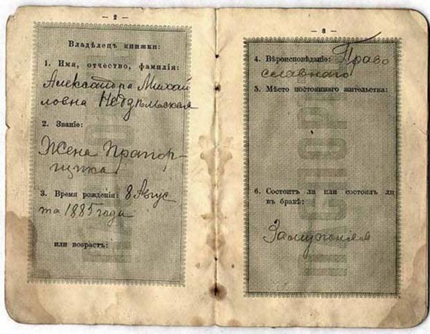 К концу XIX  века паспорта приобрели внешний вид, близкий к современному (книжки), с указанием происхождения, сословной принадлежности, вероисповедания и с отметкой о регистрации.