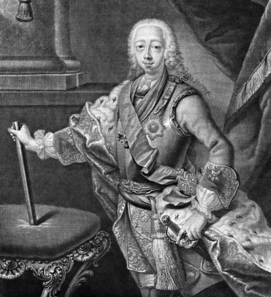 Петр III. Внук Петра I и сын его старшей дочери Анны Петровны. Из-за непопулярных мер во внешней политике и в армии потерял поддержку правящих кругов и вскоре после восшествия на престол был свергнут собственной женой Екатериной.