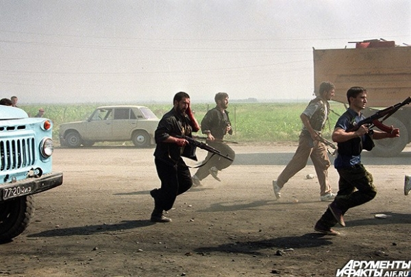 1996 г. Первая чеченская война - прорыв боевиков