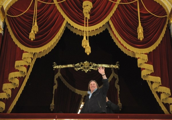 Жерар Депардье во  в Большом театре.