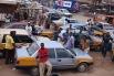 Стоянка такси в Африке.