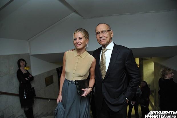 Андрей Кончаловский с женой