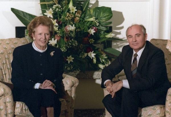 Премьер-министр Великобритании Маргарет Тэтчер, Генеральный секретарь ЦК КПСС Михаил Горбачев.