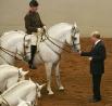 Президент посетил Испанскую школы верховой езды в Вене