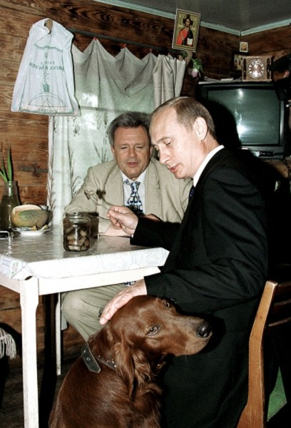 Владимир Путин и губернатор Самарской области Константин Титов 2001