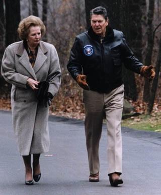 Маргарет Тэтчер и Рональд Рейган. Кэмп-Дэвид, 1986 год