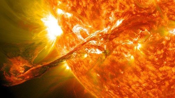 2. Вспышка на солнце, 31 августа 2012. (Фото NASA Goddard Space Flight Center)